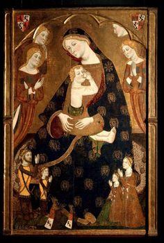 'Virgen+de+Tobed'Data de entre 1359 y 1362. Se realizó bajo el patronazgo de Enrique de Trastamara (futuro rey de Castilla) y de su mujer, Juana Manuel. (Museo del Prado)