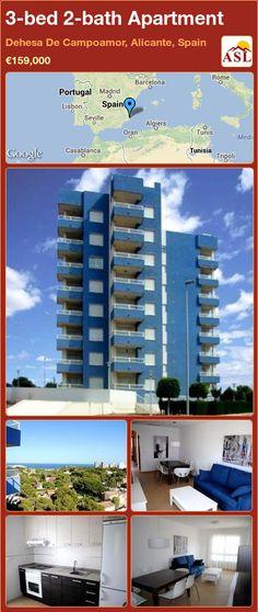 3-bed 2-bath Apartment in Dehesa De Campoamor, Alicante, Spain ►€159,000 #PropertyForSaleInSpain