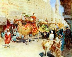 A wedding procession - Cairo 1904  By Walter Frederick Roofe Tyndale (1855–1943)