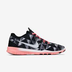 new arrivals 11da3 af8f5 Nike Free TR 5 Print Women s Training Shoe cute pink and black nike shoes.