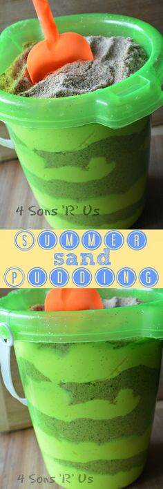 Delicious layers of creamy pudding alternate with layers of crushed up cookies that look just like real sand. This yummy Summer Sand Pudding is the perfect treat for get togethers, back yard barbecues, even pool parties. And it's a fun surprise for kids, and the kid still in all of us adults.