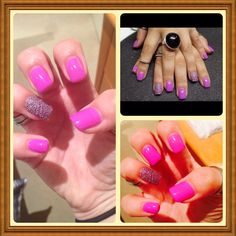 Gelish caviar nails #purple