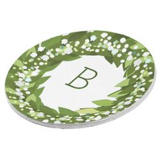 Lily of the valley paper plate