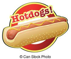 vector hot dog with condiments sketch stock illustration rh pinterest com hot dog clipart images hot dog pictures clip art free