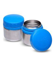 Look at this #zulilyfind! Blue Stainless Steel 8-Oz. Round Container - Set of Two #zulilyfinds