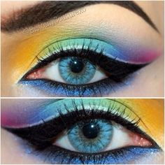 .@Sugarpill Cosmetics Cosmetics Cosmetics | Heavenly rainbow eyes by @brittanycouturexo featuring #Sugarpill Love+, 2am, ... | Webstagram