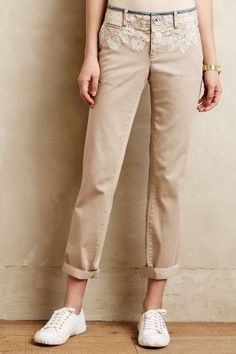 Pilcro Hyphen Embroidered Chinos - anthropologie.com