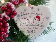 Christmas baby's 1st Christmas - custom family ornament aphroditescanvas.etsy.com