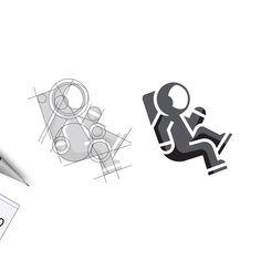 Astronaut, designed by Ahmed Safwan on Inspirationde Typography Logo, Logo Branding, Branding Design, Sketch Design, Ad Design, Graphic Design, Education Logo Design, Logo Sketches, Great Logos