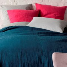 Parure en lin de Landmade : Du linge de lit pigmenté pour pimenter vos nuits - Journal des Femmes Décoration