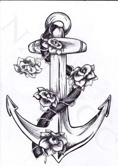 ANCHOR TATTOOS: Find the BEST Anchor Tattoo Designs here. Check out pics and video of all kinds of anchor tattoo designs SEE the world's gre. Tattoo Pied, Et Tattoo, Rope Tattoo, Tattoo Roses, Calf Tattoo, Piercings, Piercing Tattoo, Ancora Old School, Beautiful Tattoos