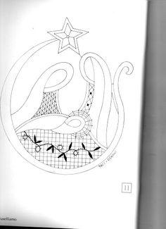 Natale a fuselli - anna maria Lambruschi - Picasa Albums Web Bobbin Lace Patterns, Freeform Crochet, Album, Embroidery, Christmas, Bobbin Lace, Mariana, Christmas Tabletop, Needlepoint