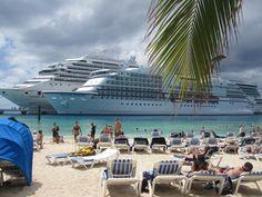 Cruise ship passenger beach at Grand Turk's Margaritaville #grandturk #margaritaville