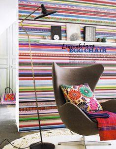 Studio Ditte Ribbon wallpaper, VT Wonen magazine