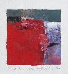 "May 31, 2018 9 cm x 9 cm (app. 4"" x 4"") oil on canvas © 2018 Hiroshi Matsumoto www.hiroshimatsumoto.com"