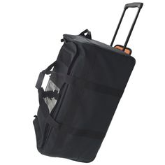 Black 30 Inch Buffalo Collapsible Rolling Military Duffle Bag has an orange hi-visibility interior. This bad boy clocks in at 30 inches yet sacrifices nothing in form and function. There is a nice telescoping handle and 3 wheels to support the heavy load you can haul in this bag. Exterior is made of 1200D polyester and the interitor is made of 420D high viz orange lining. #Army #USArmy #USAF #Navy #USNavy #Marines #CoastGuard #Marinecorps #Airforce Marine Corps, Buffalo, 30th, Rolls, Black Bags, Duffel Bags, Military, Handle, Marines