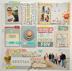 Feature Friday:: Day in the Life cards - 3 photos + project life - Pocket Scrapbooking, My Scrapbook, Scrapbook Supplies, Scrapbooking Layouts, Scrapbook Photos, Project Life Scrapbook, Project Life Layouts, Project Life Cards, Photo Projects