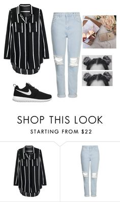 """Ula la la"" by anamiss ❤ liked on Polyvore featuring Topshop and NIKE"