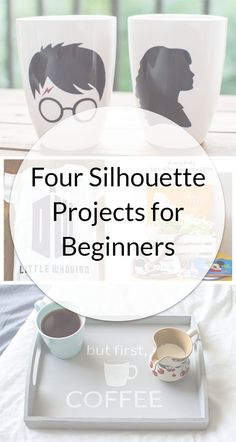 If you're wondering where to start, check out these four Silhouette projects for beginners that will get you used to working with different types of vinyl and materials!  #diy #crafts #tutorial