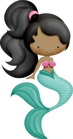 "Photo from album ""Mermaidia ~~"" on Yandex. Mermaid Under The Sea, The Little Mermaid, Mermaid Birthday, 2nd Birthday, Mermaid Clipart, Cute Clipart, Mermaid Art, Mermaid Quilt, Coloring Pages"