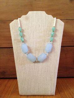 Beaded Necklace in Seaside on Etsy, $25.00