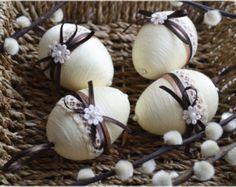 Satz von 3 Ostereier Ostereier Ostern-Dekor Ostern Eier