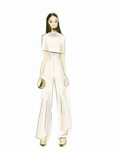 An illustration of Hailee Steinfeld's VMA look by Emily Brickel