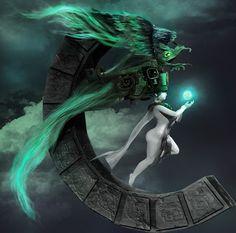 Ilustranomicon Ixchel, diosa maya de la luna