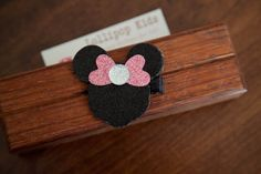 Minnie Mouse Inspired Hair Bow Hair Clip by Lollipopkidsboutique