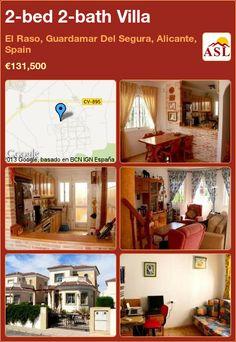 2-bed 2-bath Villa in El Raso, Guardamar Del Segura, Alicante, Spain ►€131,500 #PropertyForSaleInSpain