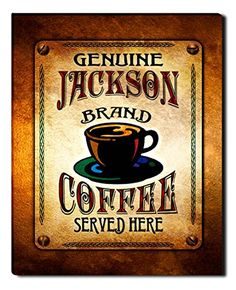Jackson Brand Coffee Gallery Wrapped Canvas Print ZuWEE…