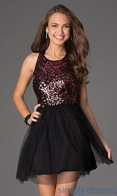 Buy Short Sequin Embellished T Back Dress At Promgirl What Others Are Saying Shop Holiday Party Dresses And Winter Formal