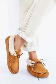 cushy, wonderfully comfy Minnetonka Chrissy Moccasin, $46 -- for my wishlist