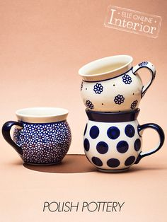 Polish pottery - this style mug is one of my favorites!