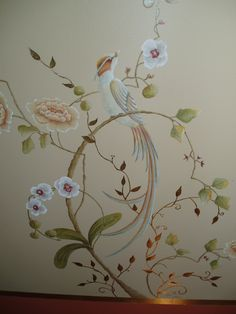 Mural by Kate Gillery at http://briarcottagestudio.blogspot.com/ Bathroom Mural