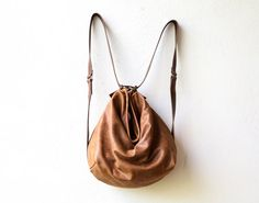 sale HOBO PACK in soft distressed leather by roughandtumblebags
