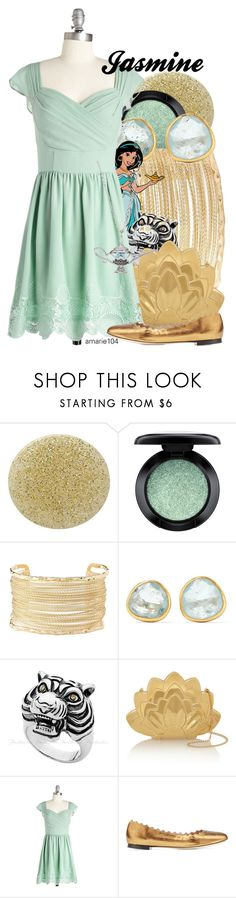"""Jasmine"" by amarie104 ❤ liked on Polyvore featuring Burberry, MAC Cosmetics, Charlotte Russe, Pippa Small, Charlotte Olympia, Chloé and LA Rocks"