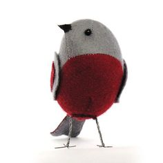 Really want to try this...  Felt bird sewing pattern.  :)