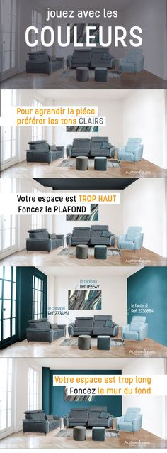 Authentic – The deco tip of the week – You want a wall color, so trendy right now? Here are some tips for painting the right wall to suit your room. Deco Cool, Deco Design, Interior Design Kitchen, House Plans, New Homes, Architecture, Room, Home Decor, Camera Painting