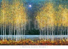 Blue Moon Art Print by Melissa Graves-Brown at Art.com