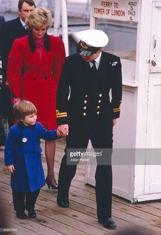 Diana The Princess of Wales accompanied by Sarah Ferguson take Prince... News Photo | Getty Images