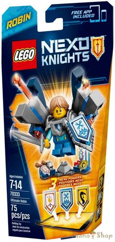 LEGO NexoKnights ULTIMATE Robin Ultimate LEGO NEXO KNIGHTS sets feature never-before-seen futuristic action minifigures with ultimate battle gear. Whizz-kid Ultimate Robin has built himself a pair of robot legs so he can take on the biggest opponents! Lego Chevalier, Legos, Robot Leg, Robin, Building Sets For Kids, Static Shock, Lego Knights, Free Lego, Best Amazon Products