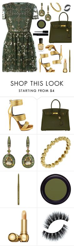 """""""Olive & Gold For Fall"""" by deborah-calton ❤ liked on Polyvore featuring Mia Limited Edition, Hermès, Annoushka, Chanel, NYX, Real Purity, Christian Dior and Deborah Lippmann"""