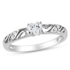 Promise ring with swirls