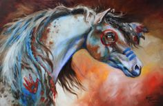Indian horse painting I want!!!