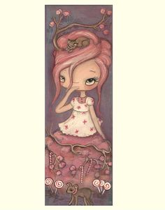 Girl Art Candy Sugar Painting Original Nursery by thepoppytree, $65.00