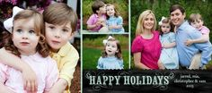 There's room for the whole family with this collage holiday photo card.