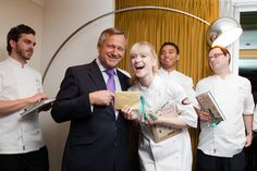 LexChef champion Hannah and Lexy Chairman Tim West