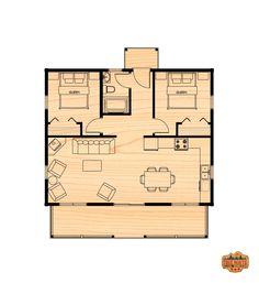 Ashburn Small - True North Log Homes - Ashburn Small – True North Log Homes - Cottage House Plans, Small House Plans, Cottage Homes, Cabin Homes, Residence Senior, Small Log Homes, Plan Chalet, Atrium House, Small Beach Houses