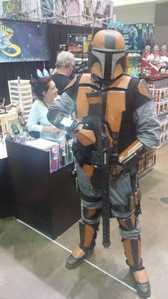 Gun for hire Star Wars cosplay at our Comikaze Expo 2015 booth. www.itcamefromplanetearth.net